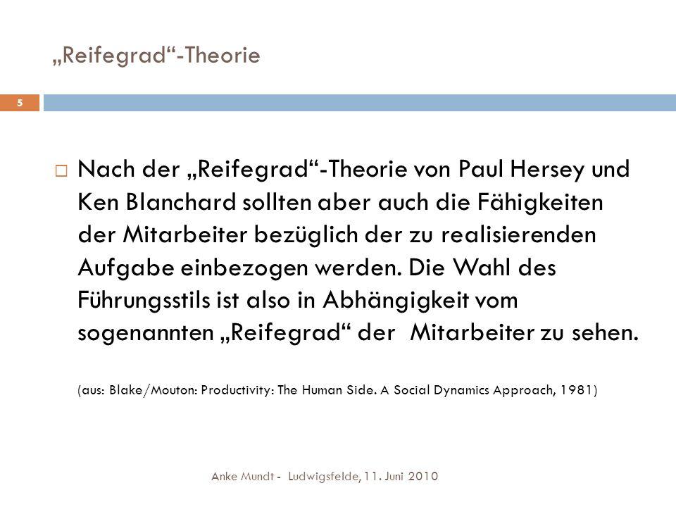 """Reifegrad -Theorie 5."