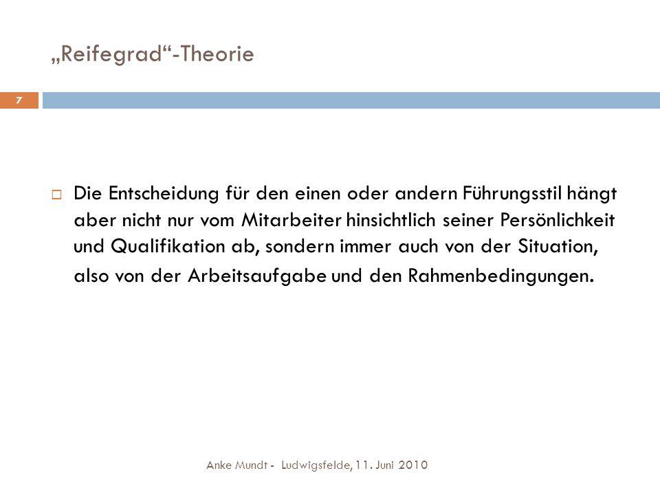 """Reifegrad -Theorie 7."
