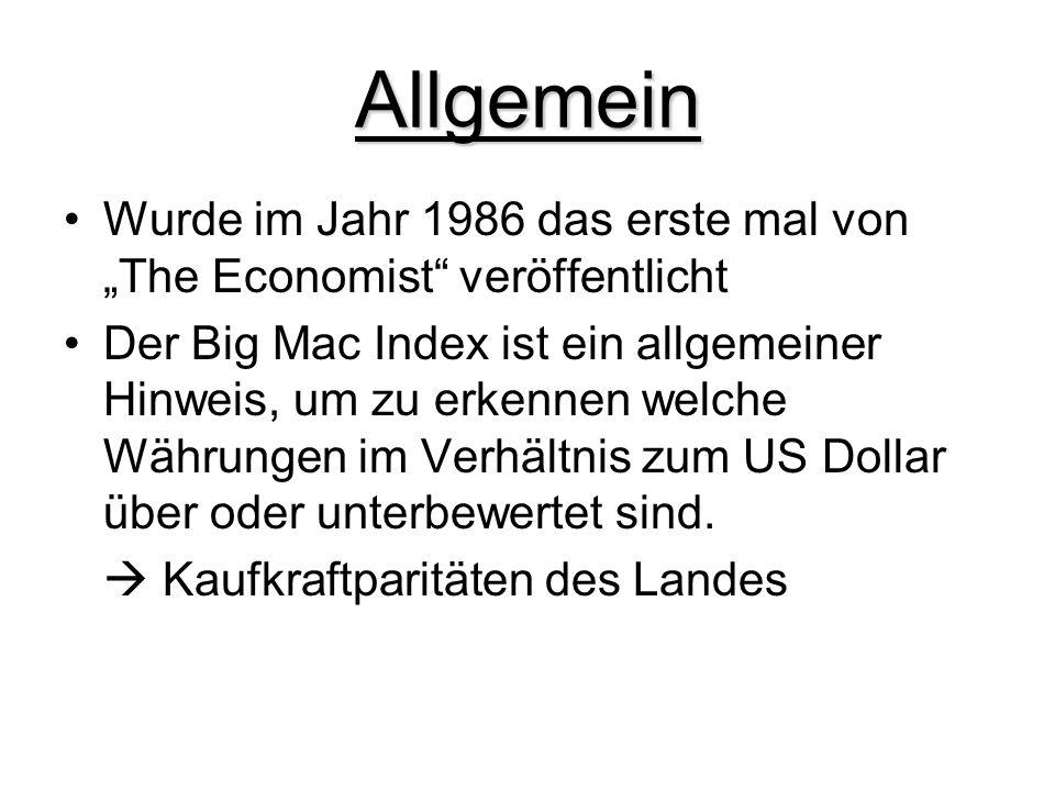 """Allgemein Wurde im Jahr 1986 das erste mal von """"The Economist veröffentlicht."""