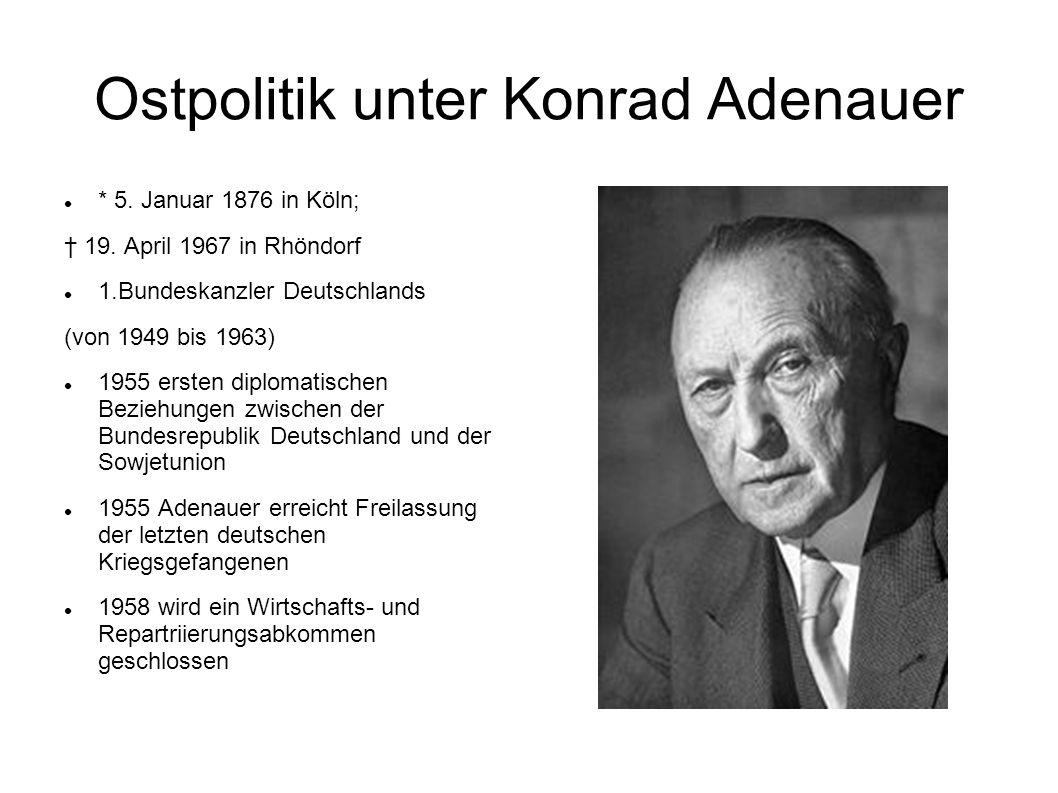 Ostpolitik unter Konrad Adenauer