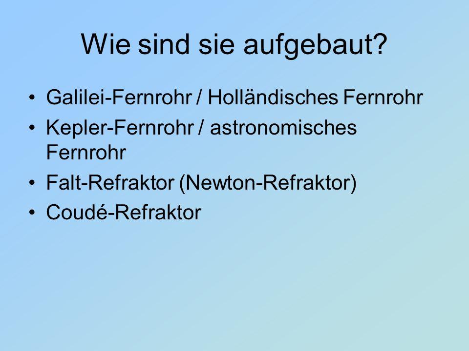 Wie sind sie aufgebaut Galilei-Fernrohr / Holländisches Fernrohr
