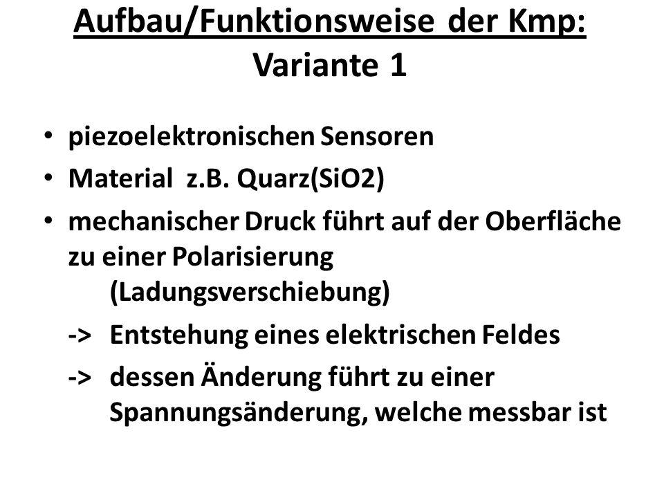 Aufbau/Funktionsweise der Kmp: Variante 1