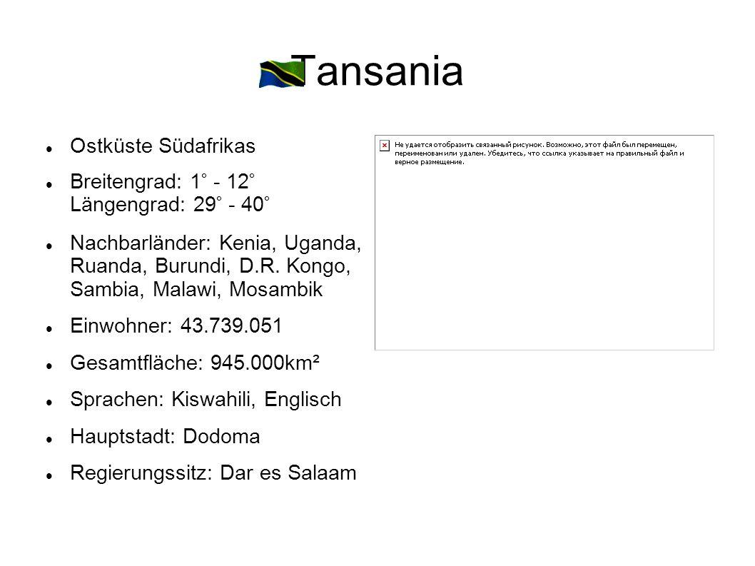 Tansania Ostküste Südafrikas