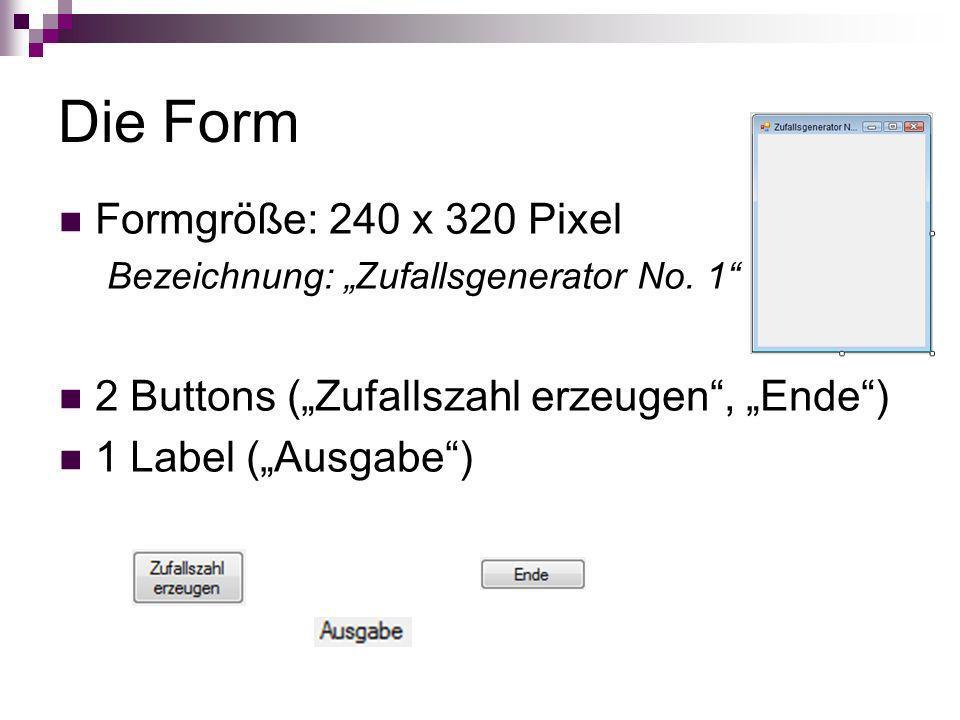 Die Form Formgröße: 240 x 320 Pixel