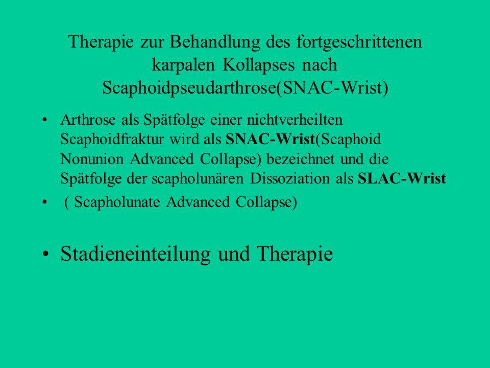 Stadieneinteilung und Therapie