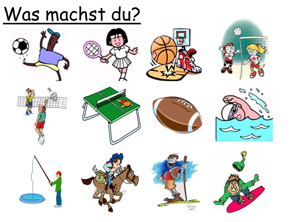 Was machst du Game: variation on 'was fehlt ' , but teacher asks 'was machst du '