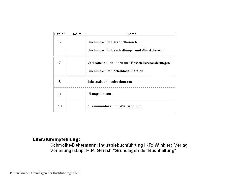P. Neunkirchen Grundlagen der Buchführung Folie 3
