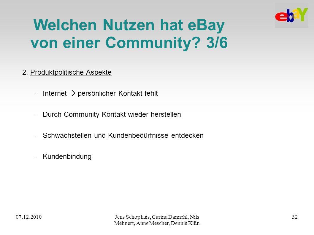 Welchen Nutzen hat eBay von einer Community 3/6