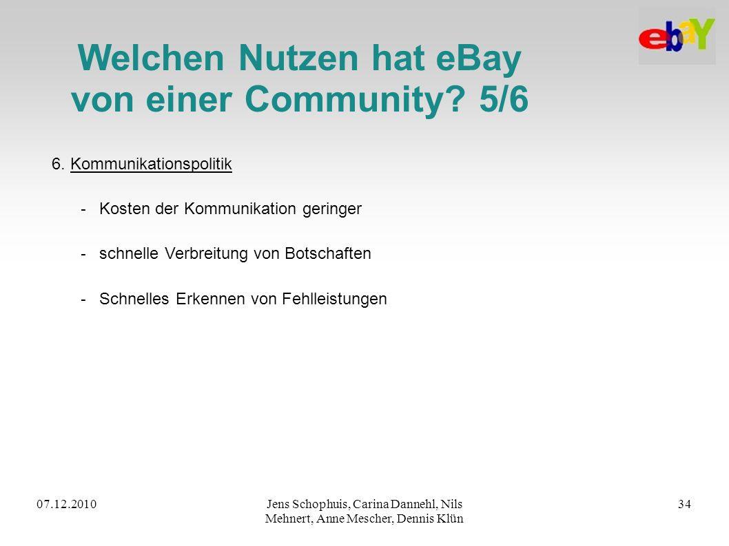 Welchen Nutzen hat eBay von einer Community 5/6