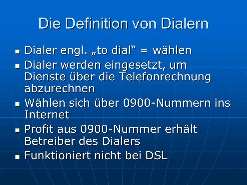 Die Definition von Dialern