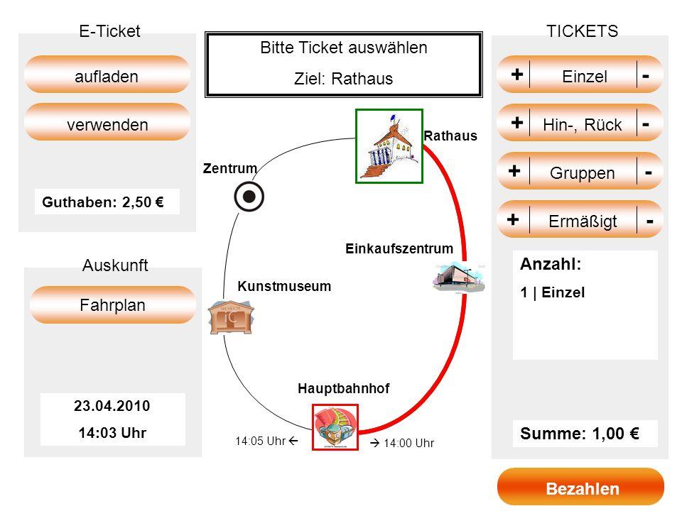 Bitte Ticket auswählen