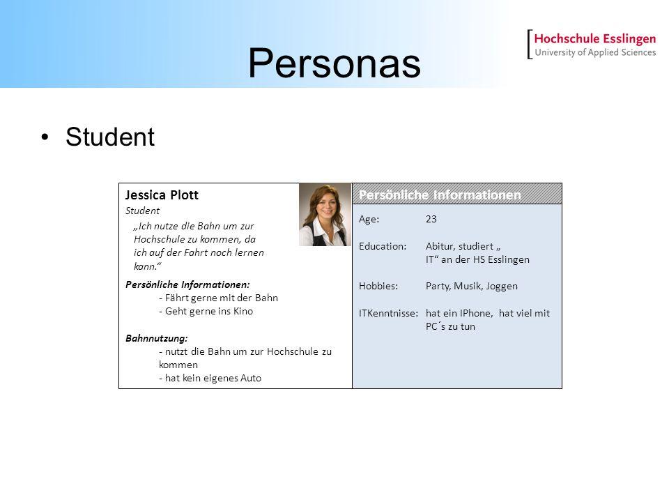 Personas Student Jessica Plott Persönliche Informationen