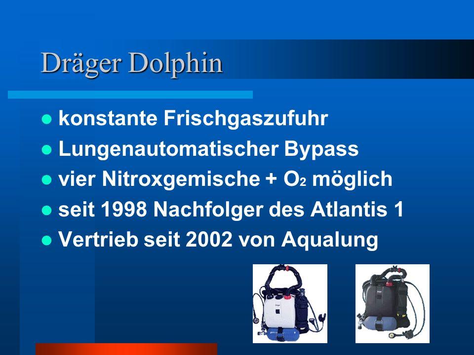 Dräger Dolphin konstante Frischgaszufuhr Lungenautomatischer Bypass