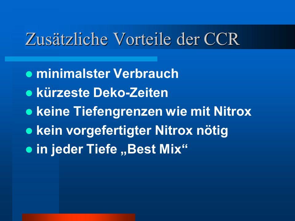 Zusätzliche Vorteile der CCR