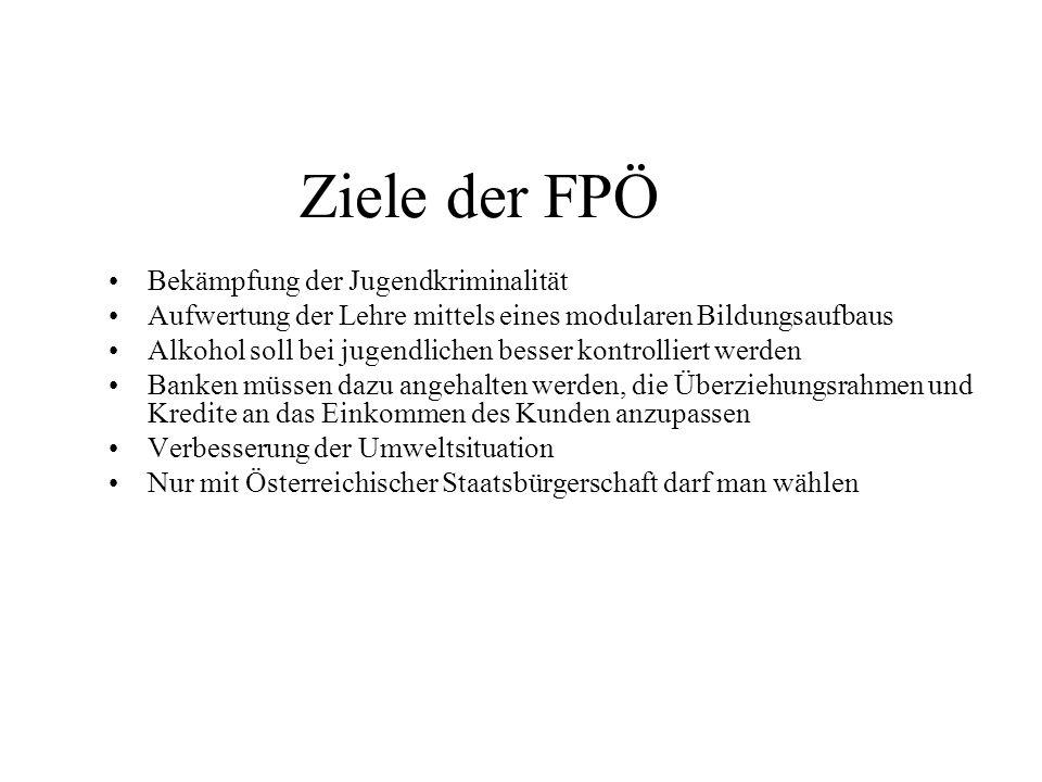 Ziele der FPÖ Bekämpfung der Jugendkriminalität