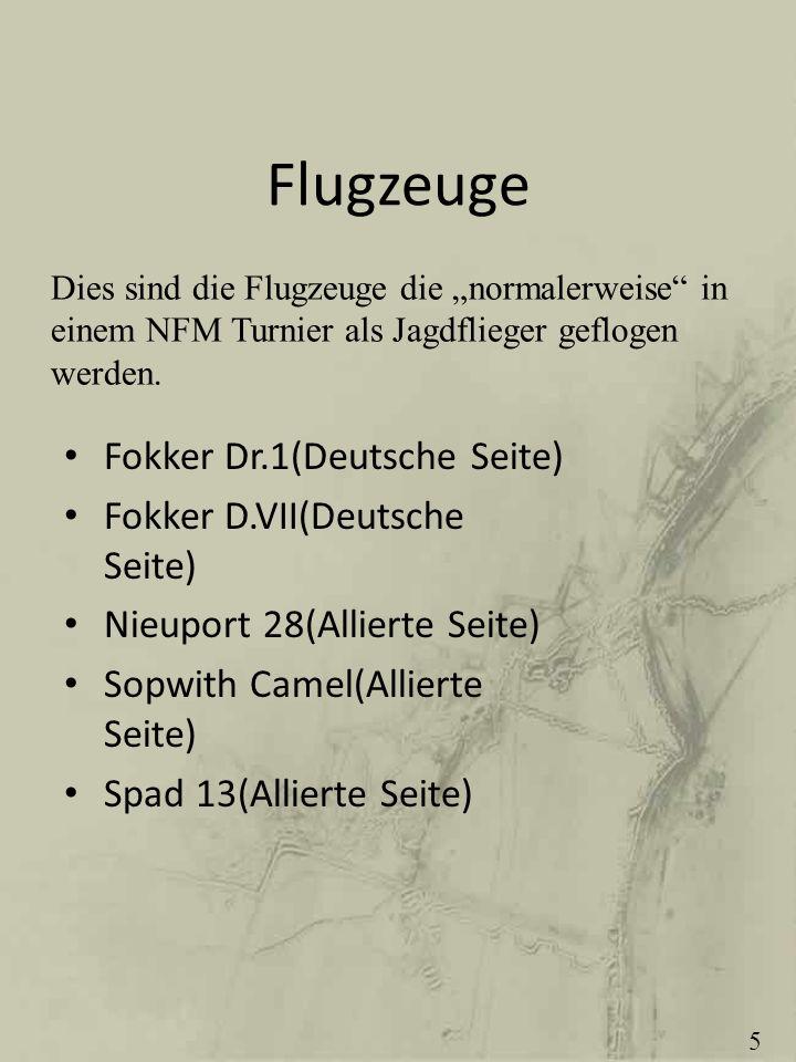 Flugzeuge Fokker Dr.1(Deutsche Seite) Fokker D.VII(Deutsche Seite)