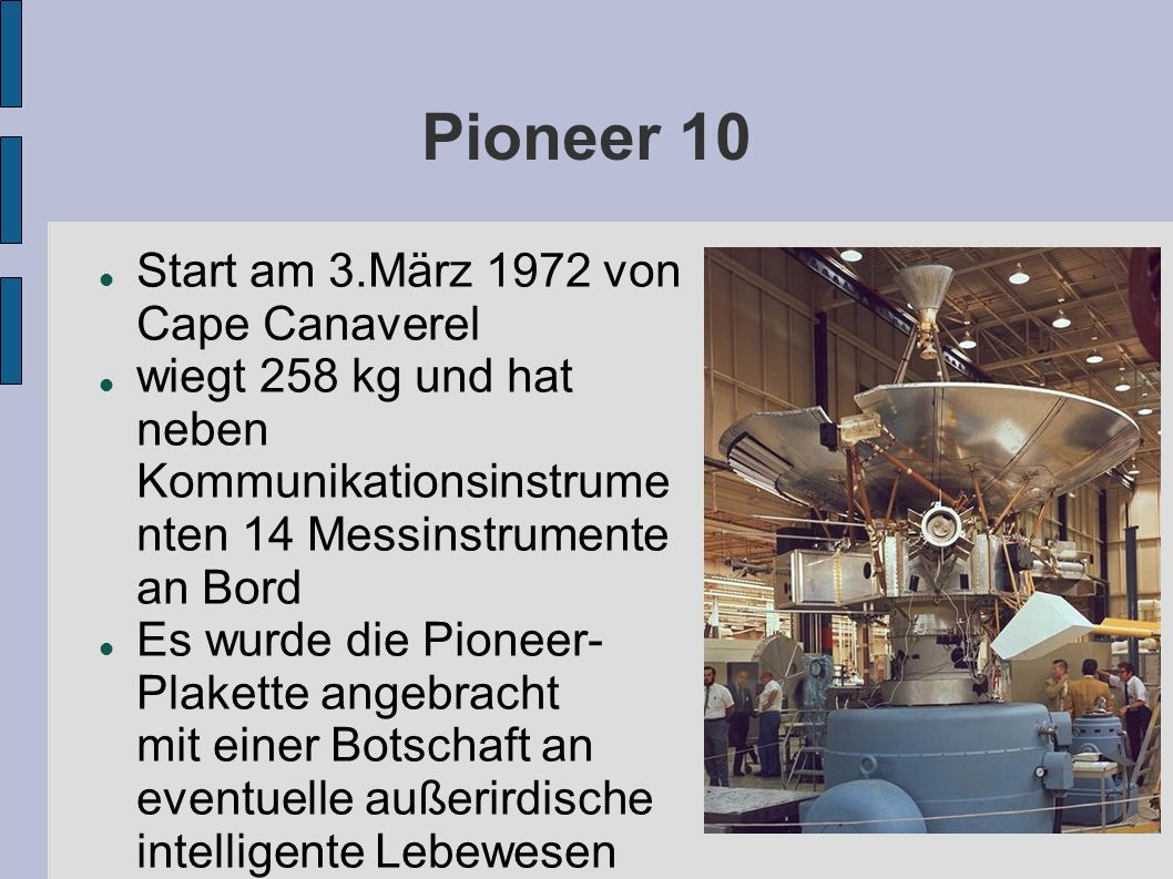 Pioneer 10 Start am 3.März 1972 von Cape Canaverel