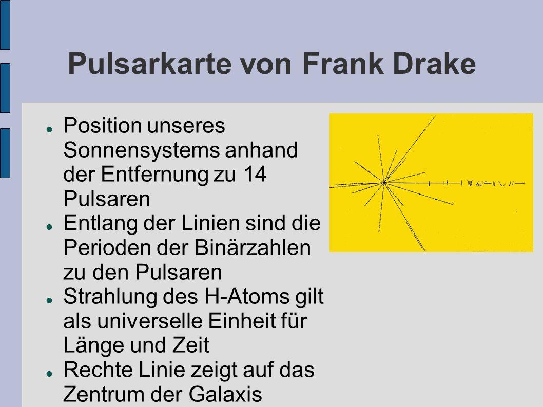 Pulsarkarte von Frank Drake