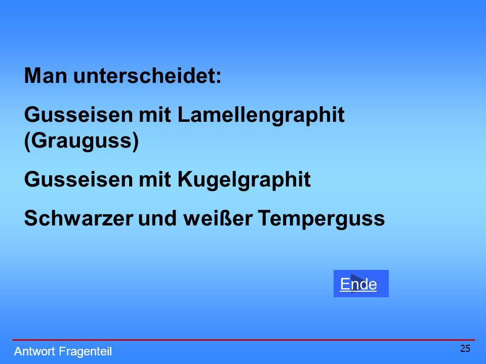 Gusseisen mit Lamellengraphit (Grauguss)