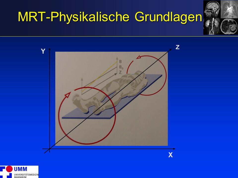 MRT-Physikalische Grundlagen
