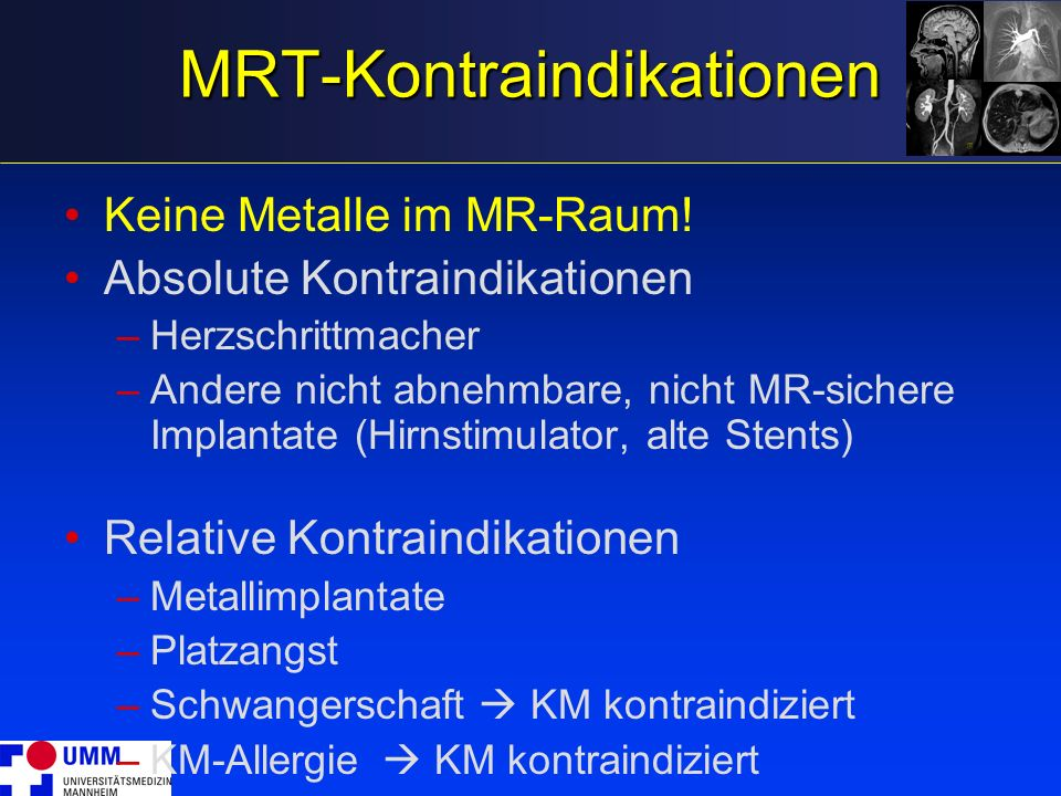MRT-Kontraindikationen