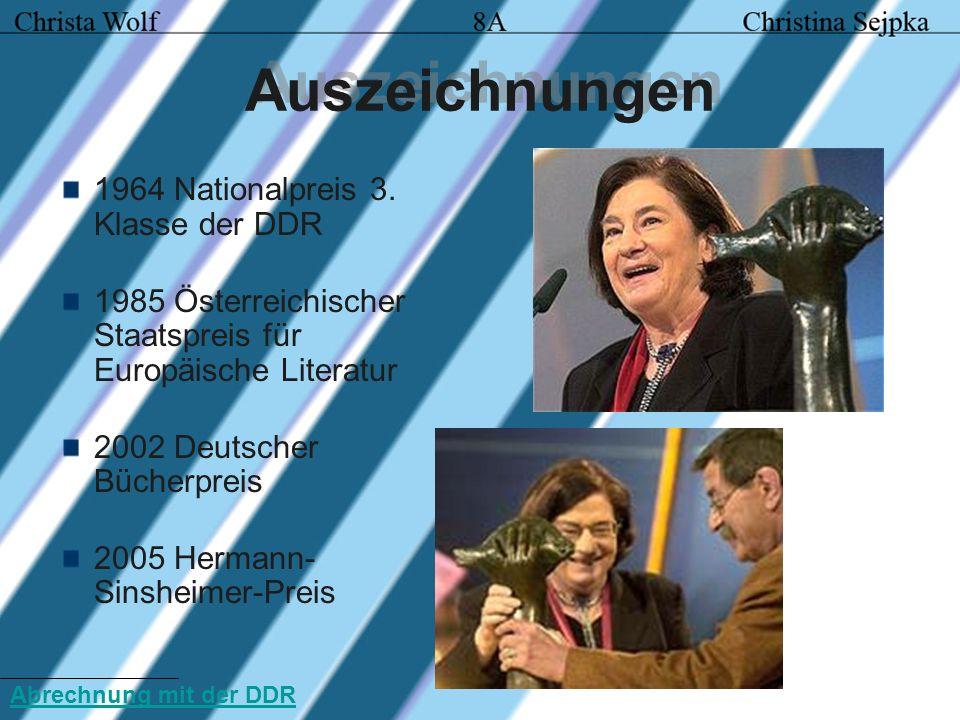 Auszeichnungen 1964 Nationalpreis 3. Klasse der DDR