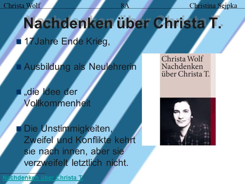 Nachdenken über Christa T.