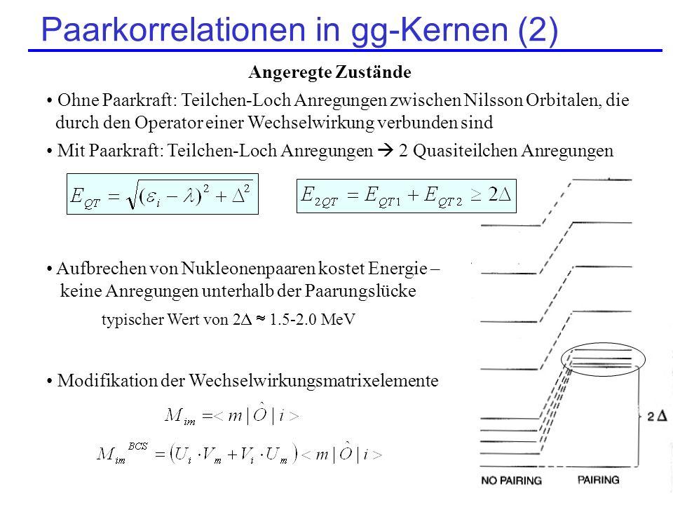 Paarkorrelationen in gg-Kernen (2)