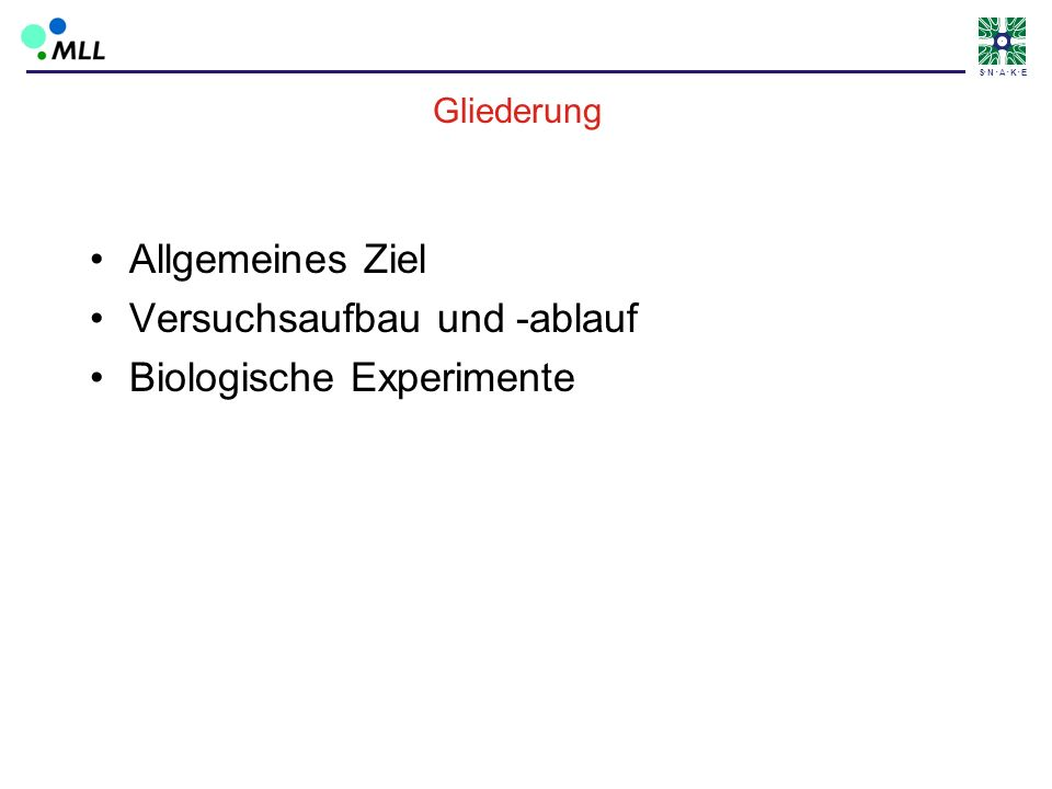 Versuchsaufbau und -ablauf Biologische Experimente