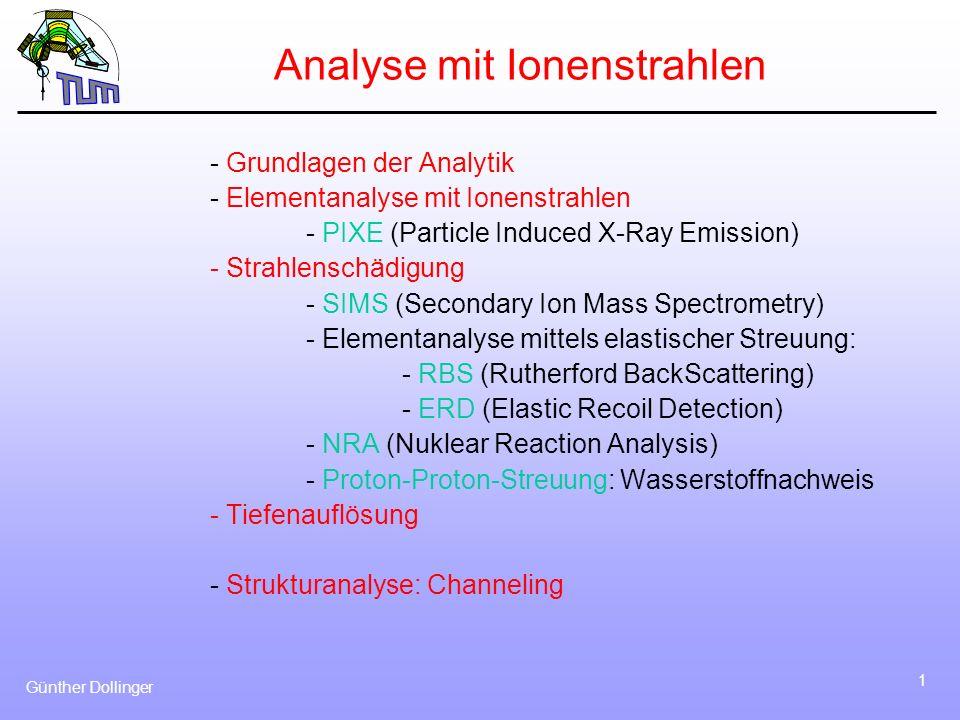 Analyse mit Ionenstrahlen