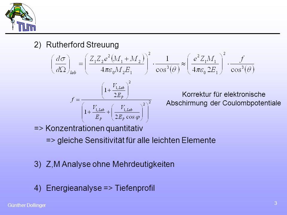 Korrektur für elektronische Abschirmung der Coulombpotentiale