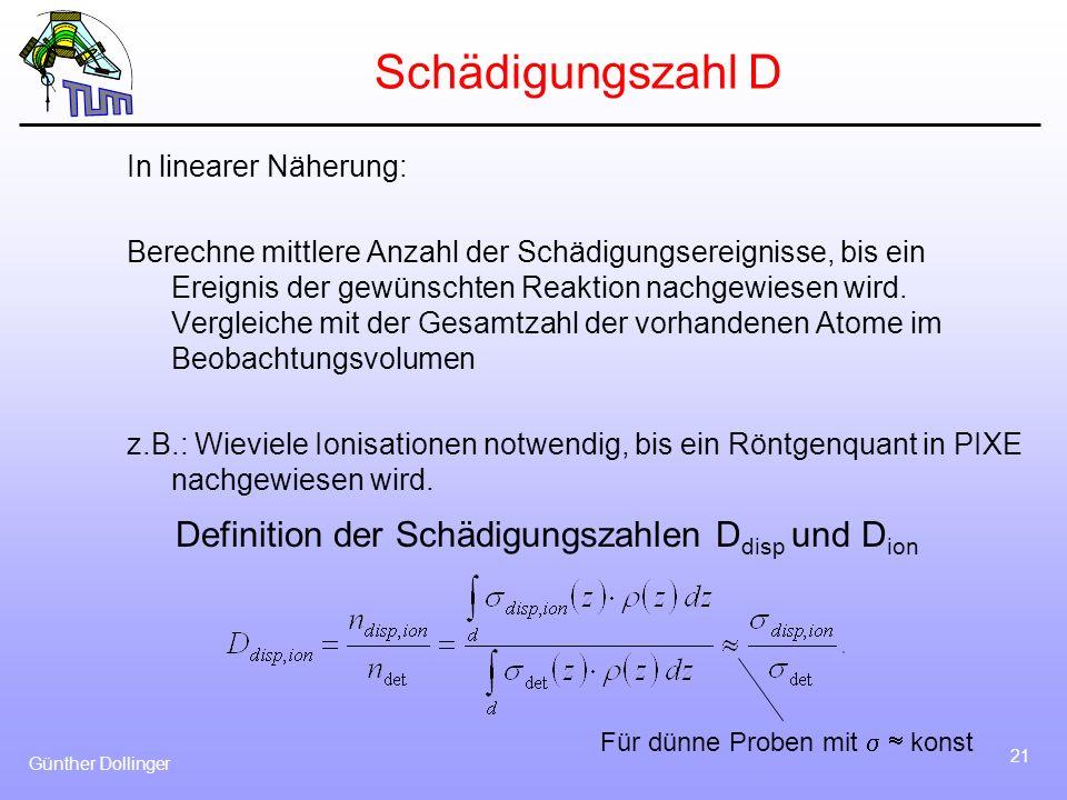 Schädigungszahl D Definition der Schädigungszahlen Ddisp und Dion