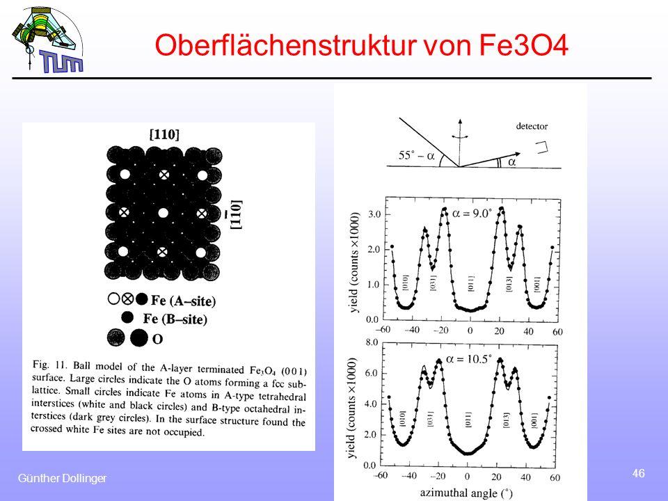 Oberflächenstruktur von Fe3O4