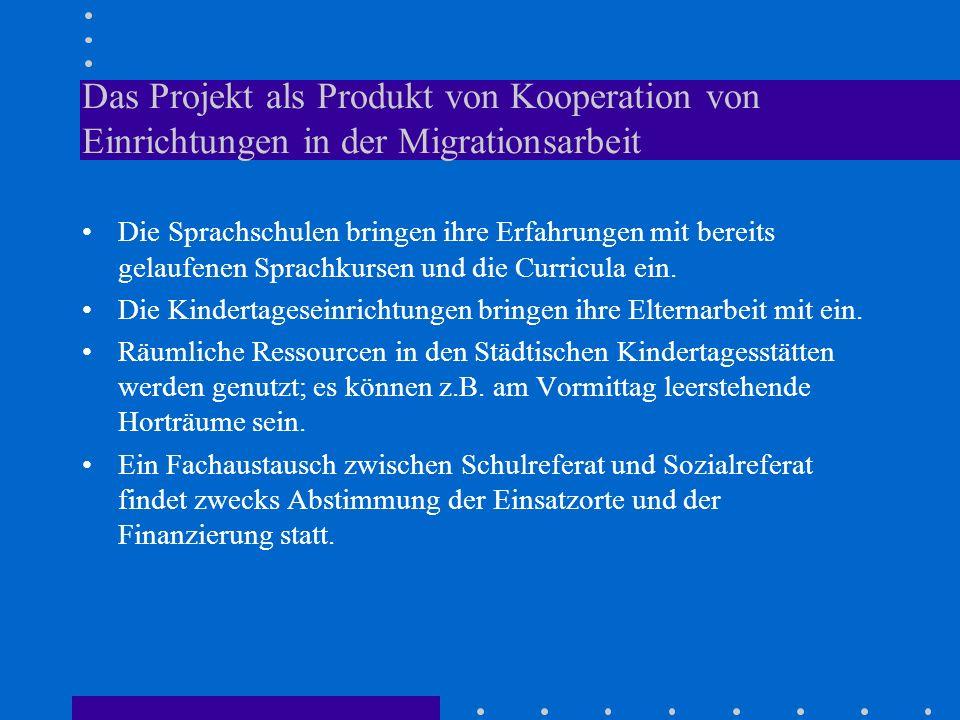 Das Projekt als Produkt von Kooperation von Einrichtungen in der Migrationsarbeit