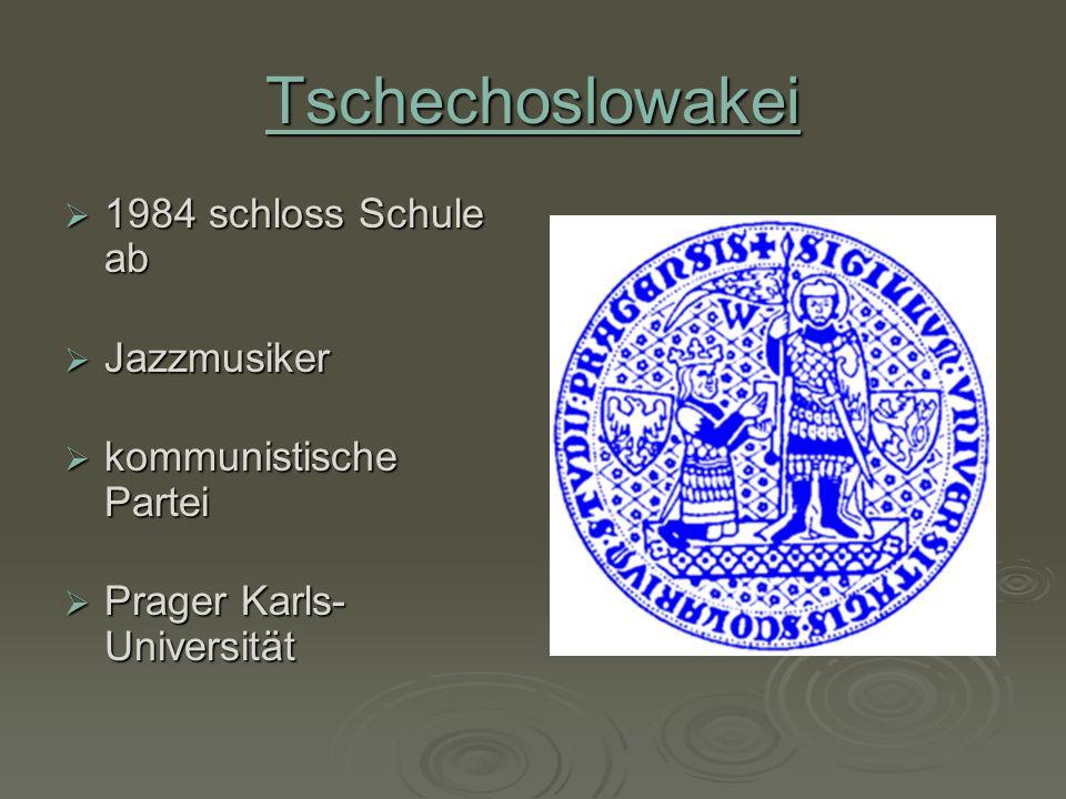 Tschechoslowakei 1984 schloss Schule ab Jazzmusiker