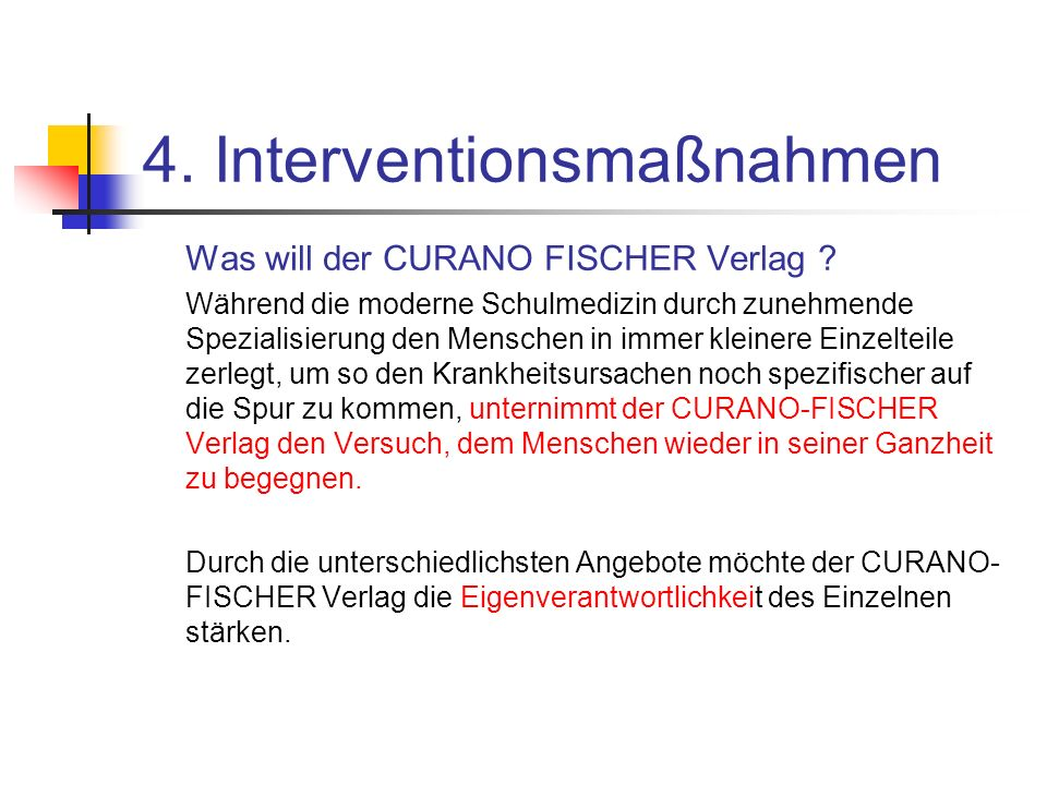 4. Interventionsmaßnahmen