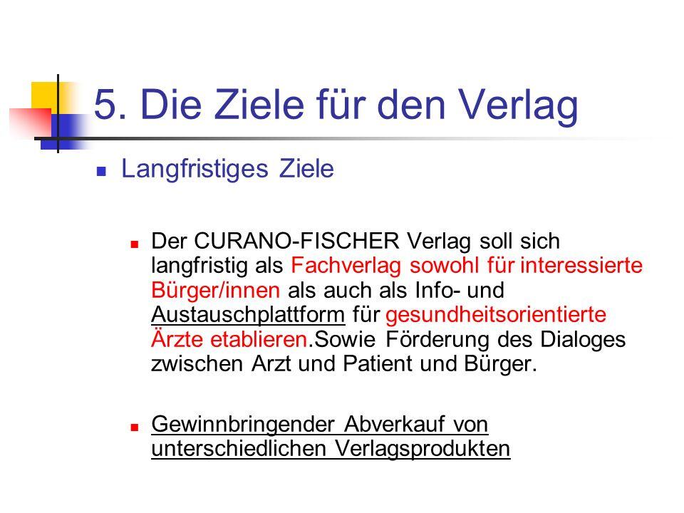 5. Die Ziele für den Verlag