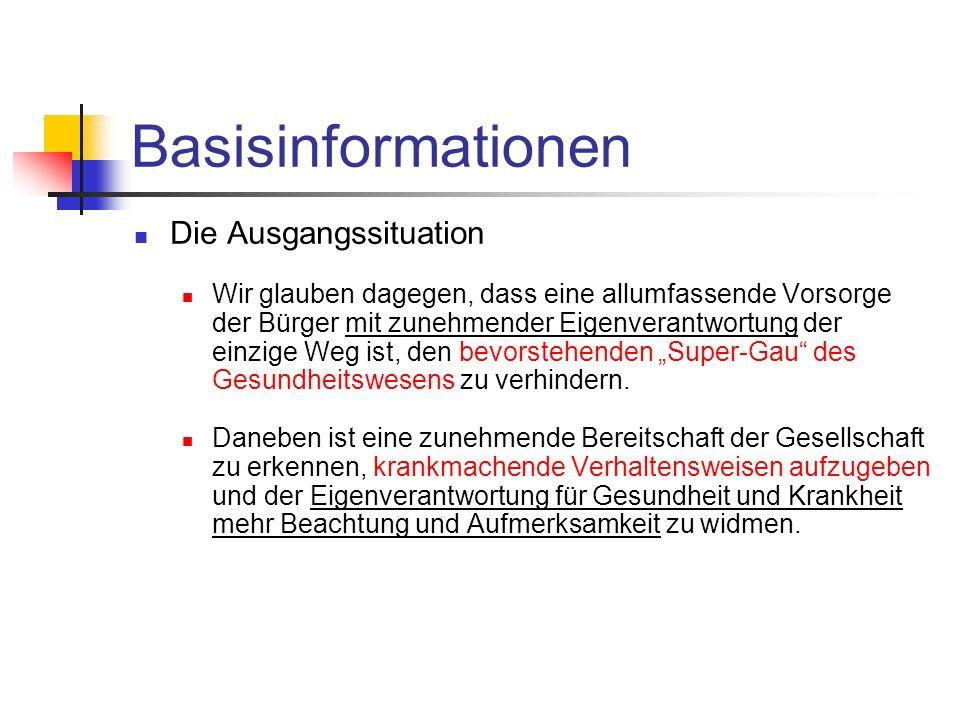 Basisinformationen Die Ausgangssituation