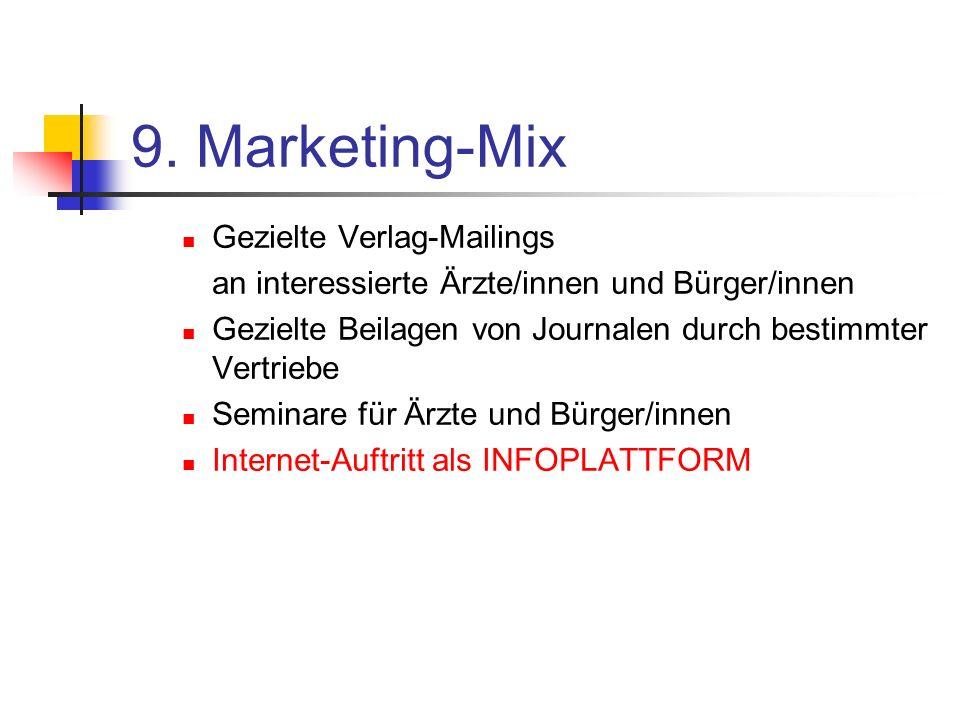 9. Marketing-Mix Gezielte Verlag-Mailings