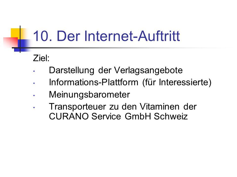 10. Der Internet-Auftritt