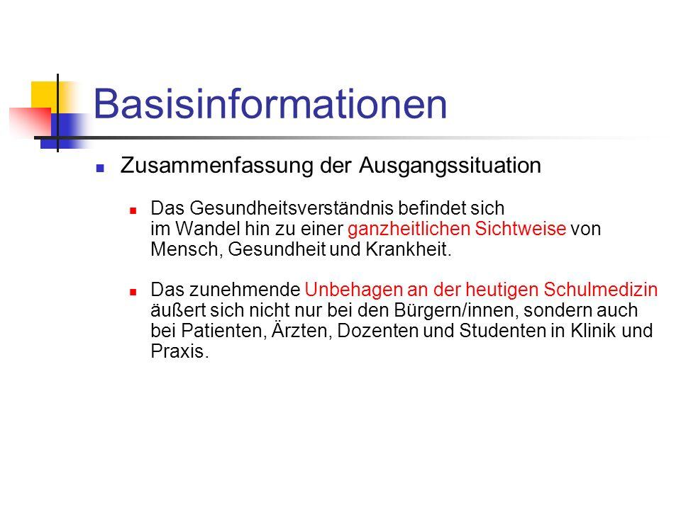 Basisinformationen Zusammenfassung der Ausgangssituation