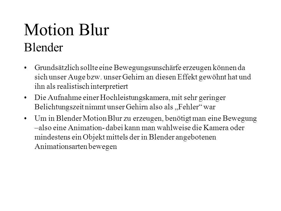 Motion Blur Blender
