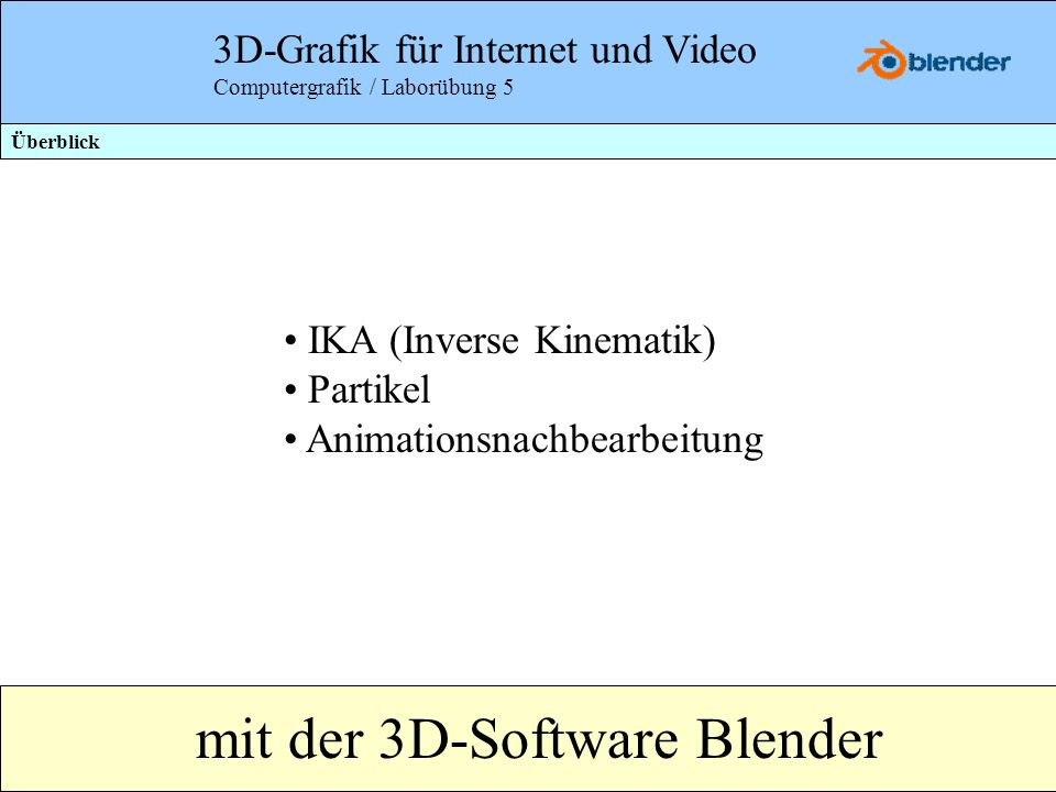 mit der 3D-Software Blender