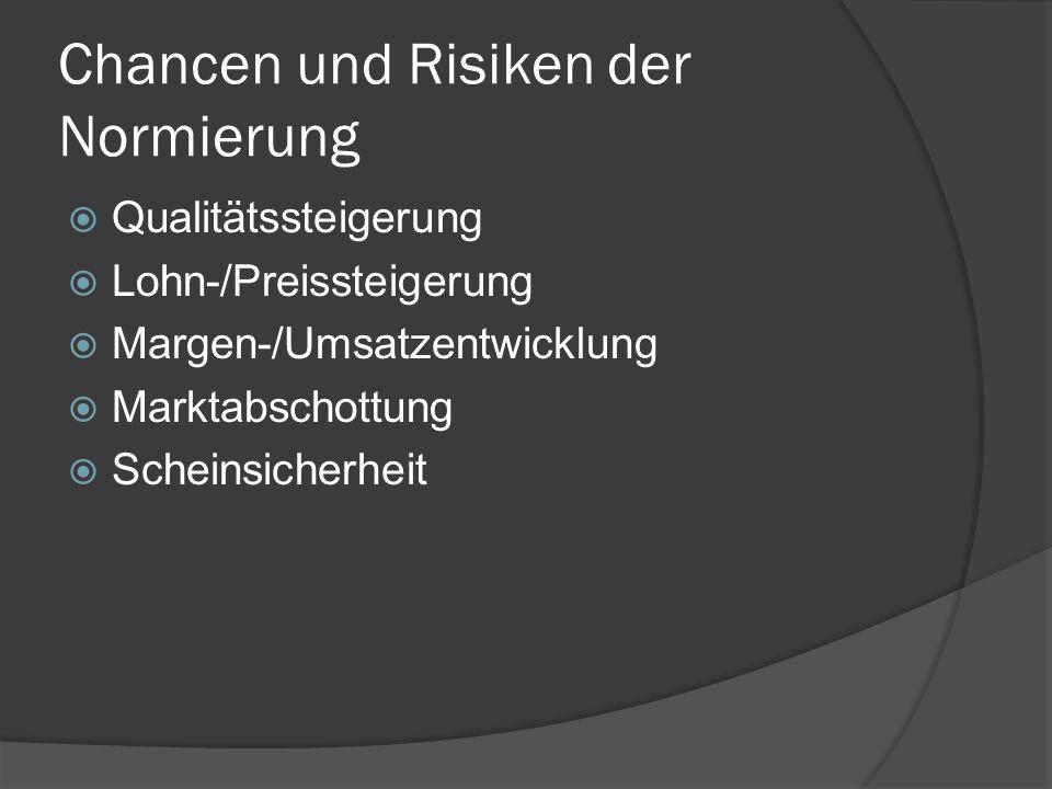 Chancen und Risiken der Normierung