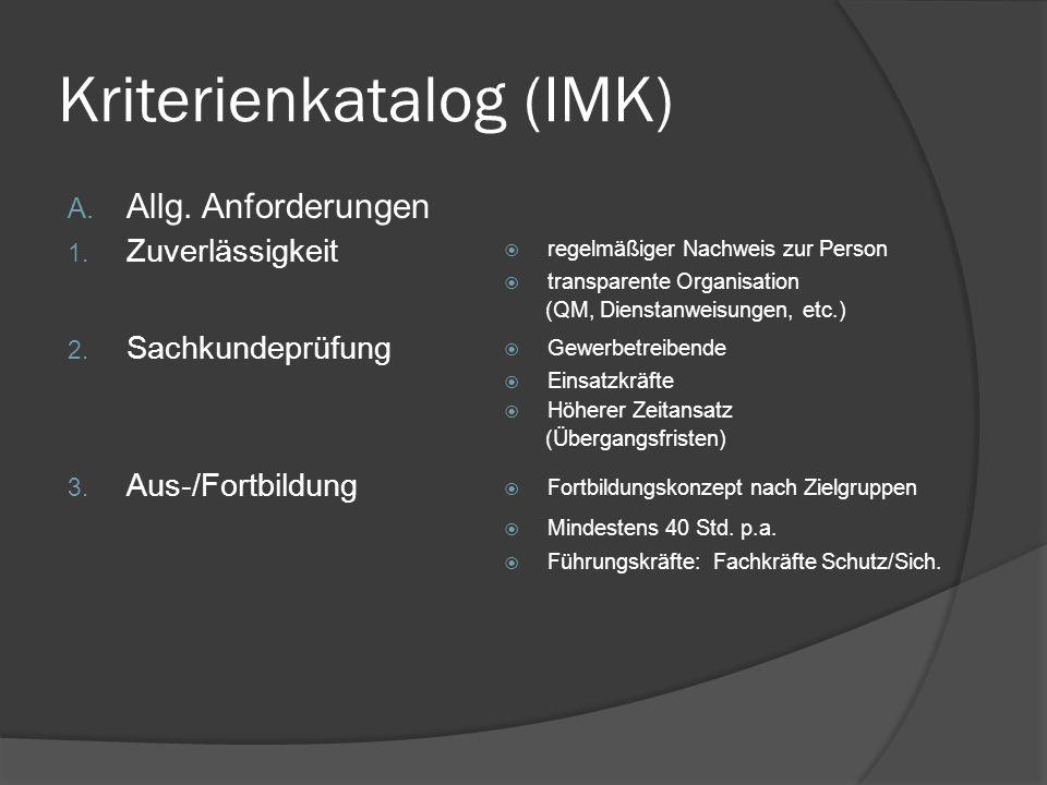 Kriterienkatalog (IMK)