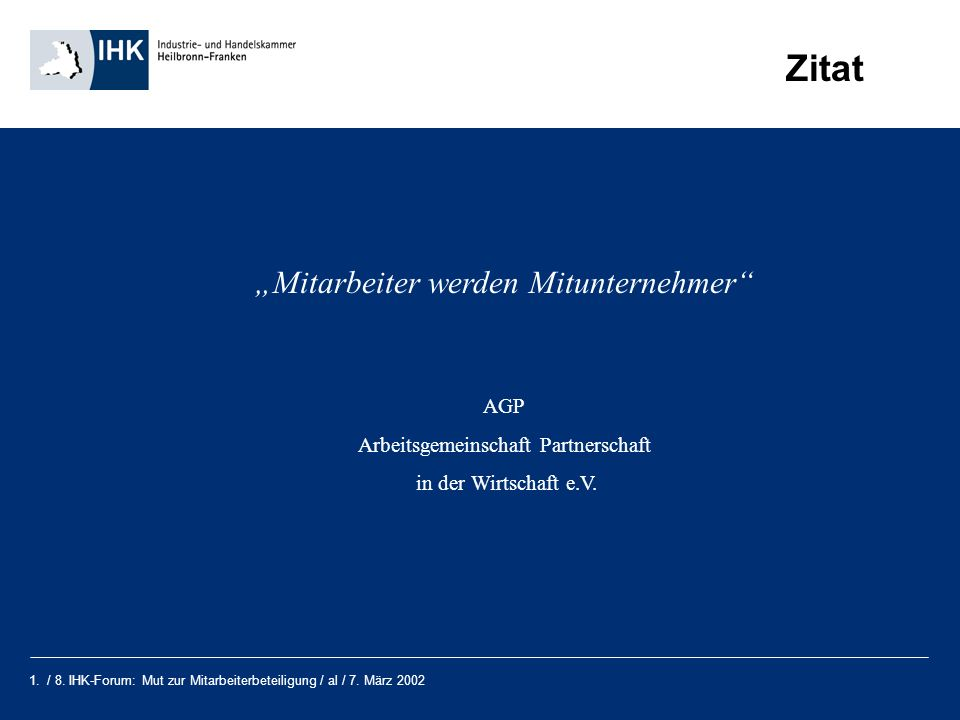 """Zitat """"Mitarbeiter werden Mitunternehmer AGP"""