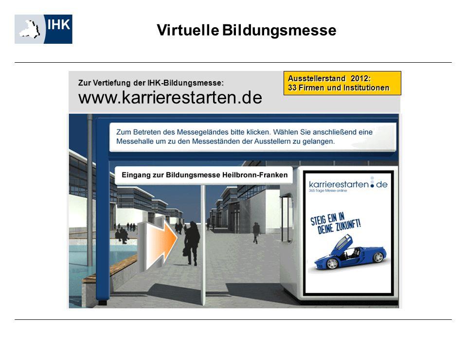 www.karrierestarten.de Virtuelle Bildungsmesse Ausstellerstand 2012: