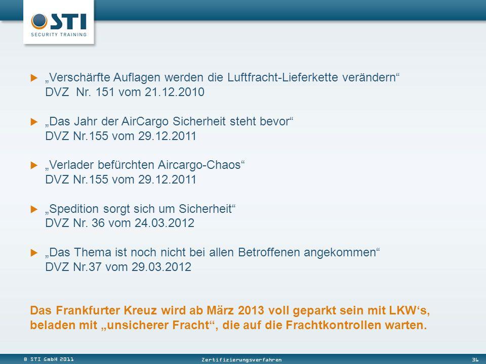 """""""Verschärfte Auflagen werden die Luftfracht-Lieferkette verändern DVZ Nr. 151 vom 21.12.2010"""