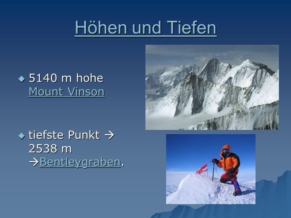 Höhen und Tiefen 5140 m hohe Mount Vinson