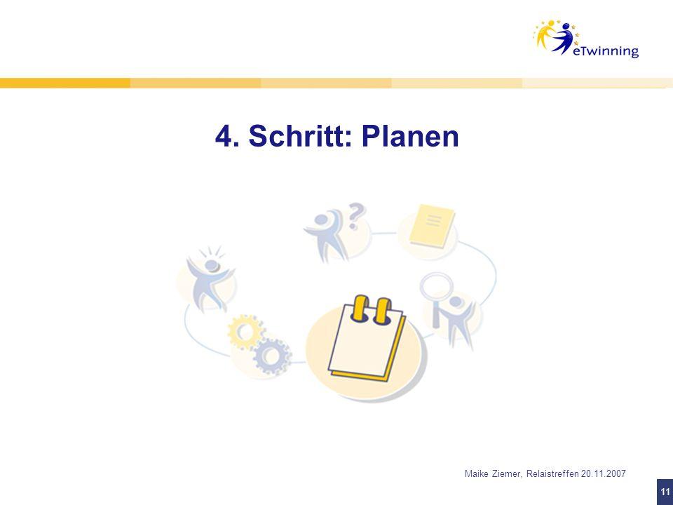 4. Schritt: Planen Projektideen auf www.eTwinning.de Motto: KISS